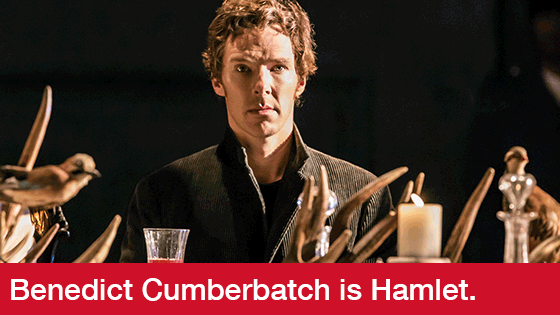 Image from National Theatre Live: Hamlet