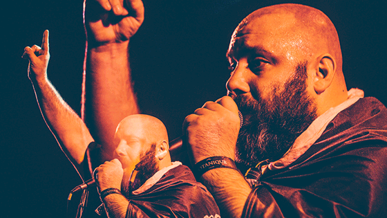 Image from Toronto Poetry Slam Finals featuring Sage Francis