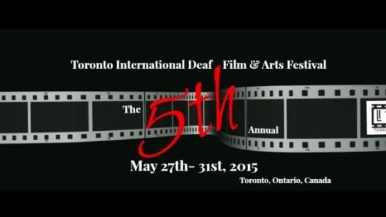 Image from 5th Biennial Toronto International Deaf Film and Arts Festival
